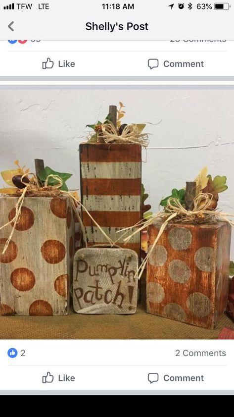 Gorgeously Crisp & Oxidized Rustic Fall Home decor ideas Diy Fall Crafts best diy fall craft ideas Fall Wood Crafts, Autumn Crafts, Thanksgiving Crafts, Holiday Crafts, Halloween Wood Crafts, Wooden Pumpkin Crafts, 4x4 Wood Crafts, Primitive Fall Crafts, Primitive Autumn