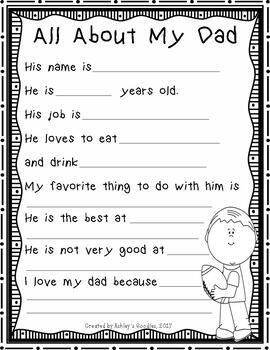Fathers Day keep Sake Card My Daddy Interview Card