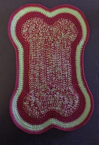 Dog Bone Placemat Crochet Placemat Patterns Crochet Dog Patterns Placemats Patterns