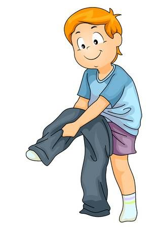 04bf5fc35 Illustration of a Kid Boy Putting On His Pants as Part of Independent  Teaching