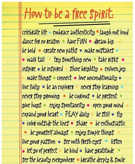 How to be a free spirit (even being a free spirit comes with instructions)
