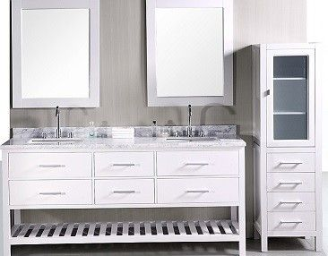 Design Element Cab04 W Contemporary 65 Inch Linen Cabinet Double