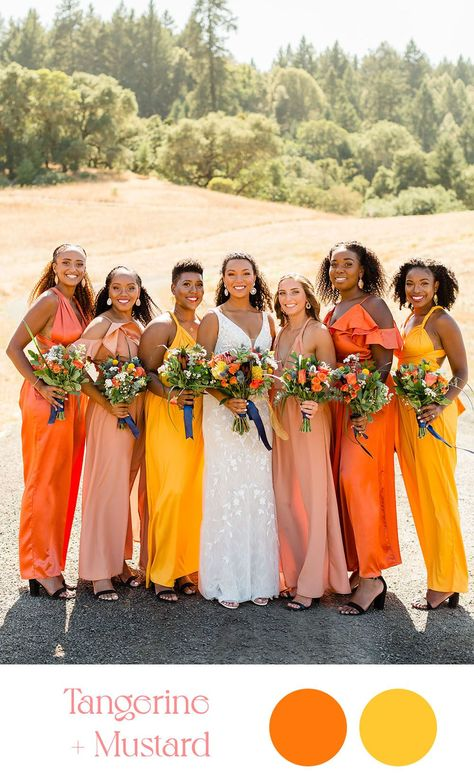 Summer Wedding Color Combos | Color Palette Ideas for a Summer Wedding | California wedding photos all the way from Palm Springs to San Francisco. Get all the inspo for your wedding on my boards ✨ #colorpalette #summerwedding #weddingcolors