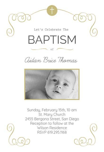 Baptism Invitation Online Maker
