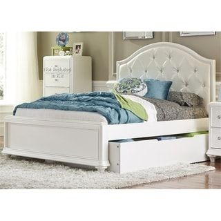 Liberty Stardust Iridescent White Trundle Bed White Trundle Bed