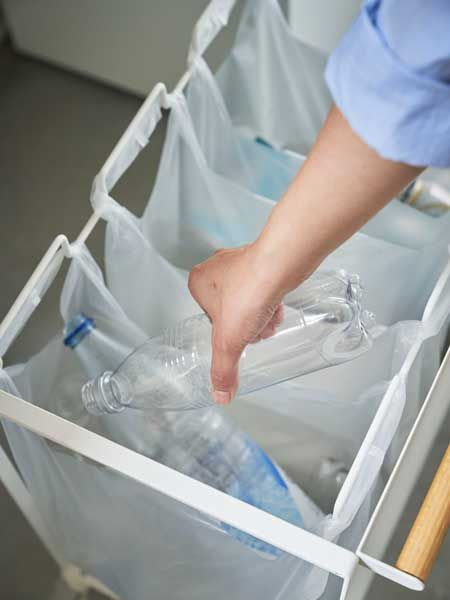 レジ袋をかけるだけでスマートにごみ分別ができるゴミ箱 台所 ゴミ箱 トスカ 家事