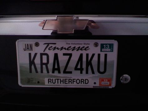 My new license plate