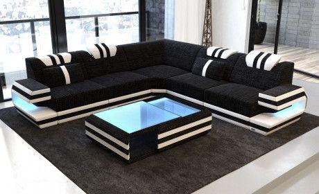 Stoffsofa Ragusa L Form Wohnzimmermobel Modern Wohnzimmer