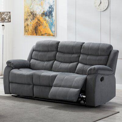 Winston Porter Udel 81 Wide Pillow Top Arm Reclining Sofa In 2021 Reclining Sofa Living Room Sofa Sofa