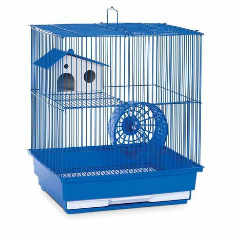 Prevue Pet 2 Story Hamster And Gerbil Home Blue Medium Small Animal Cage Pet Cage Gerbil Cages