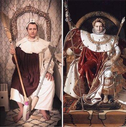 Essi Huhta D Apres Jean Auguste Dominique Ingres Napoleon Ier Sur Le Trone Imperial Portrait Photo Getty Museum Art Apps