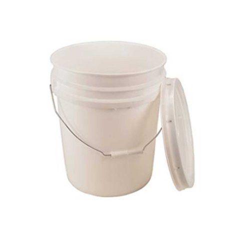 Api Kirk 5 Gallon White Bucket Lid Durable 90 Mil All Purpose Pail Food Grade Bpa Free Plastic Walmart Com Bpa Free Plastic Food Storage Containers Food Grade Buckets