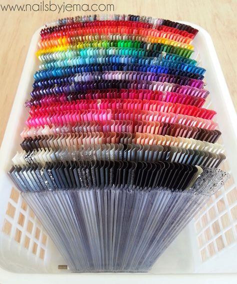 Swatch Stick Organisation - Nails by JemaYou can find Nail salon design and more on our website.Swatch Stick Organisation - Nails by Jema