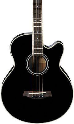 Ibanez Aeb5e Acoustic Electric Bass Black Acoustic Bass Acoustic Bass Guitar Guitar