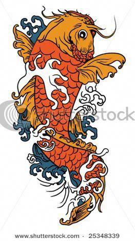 Koi Fish ~ Swim upstream ~  Embroidered sew-on patch
