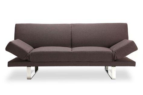 Canape Convertible Design Brun Atlanta Mobilier De Salon Meuble
