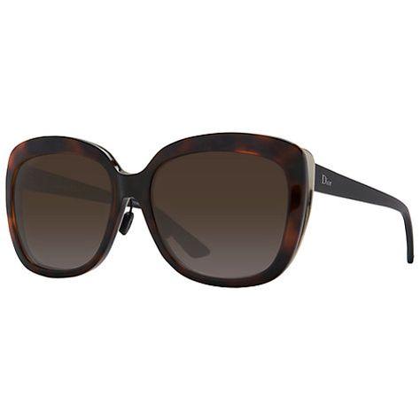 01b0182ae024 Buy Christian Dior Diorific Rectangular Sunglasses, Tortoise Online at  johnlewis.com