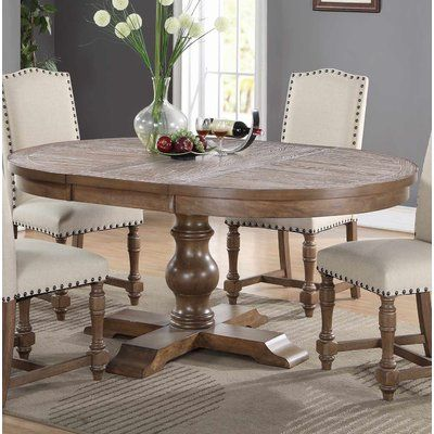 Laurel Foundry Modern Farmhouse Fortunat Extendable Dining Table Wayfair Dining Table In Kitchen Extendable Dining Table Dining Room Table
