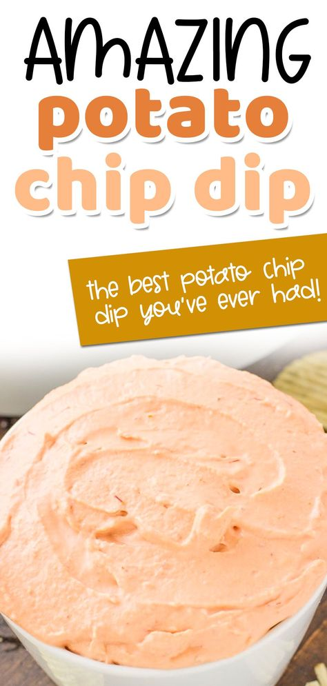 Potato Chip Dips, Best Potato Chip Dip Recipe, Best Chip Dip, Dip For Potato Chips, Chip Dip Recipes, Easy Appetizer Recipes, Yummy Appetizers, Snack Recipes, Cooking Recipes