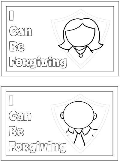 Sunbeam Lesson 30 I Can Forgive Others Coloring Sheet