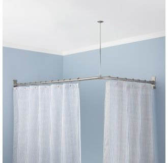 Tension Curved Shower Curtain Rod Brushed Nickel Threshold