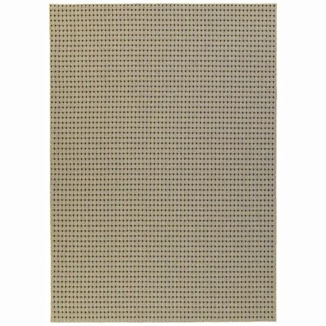 Modern Contemporary Area Rug New Carpet Tan 7x9 8x10 Dots Stitched