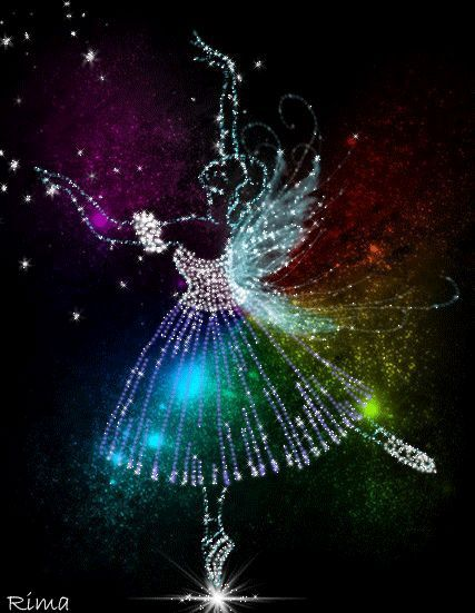 Imagem relacionada Ballet Poses, Ballet Dancers, Ballet Art, Glitter Gif, Beautiful Fairies, Beautiful Things, Mandala Painting, Rainbow Colors, All About Dance