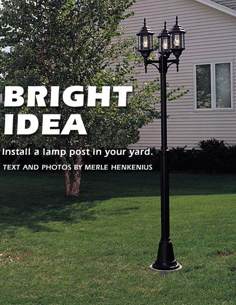 How To Install A Lamp Post In Your Yard | Outdoor post