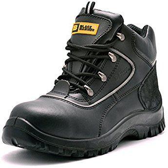 Black Hammer Para Hombre De Piel De Botas De Seguridad Para Hombre Puntera De Acero De Seguridad Botas Bota De Seguridad Calzado De Trabajo Zapatos De Trabajo