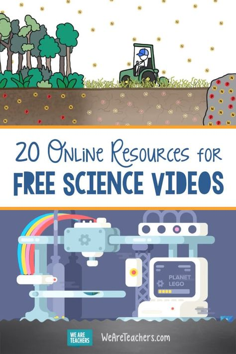 Remote Learning/Distance Learning: 20 Online Resources for Fantastic Free Science Videos. These free science videos will engage kids on every STEM topic, from chemistry and biology to space exploration and beyond. 4th Grade Science, Middle School Science, Teaching Science, Science Education, Science For Kids, Stem Science, Science Online, Physical Science, Earth Science
