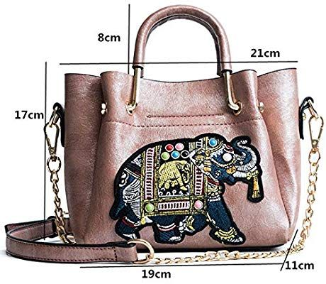 86c5abd382b1 Amazon.com: GMYANDJB New Tote Bag Elephant Patch Women Leather ...
