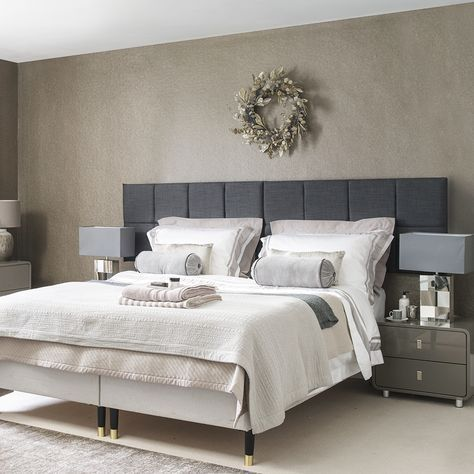 Hotel Chic Master Bedroom With Festive Decor