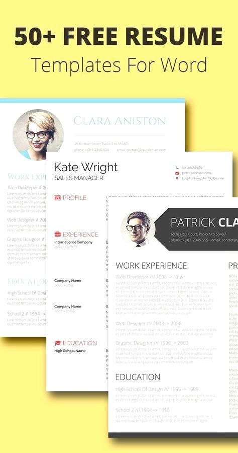 Free resume templates in Microsoft Word format you won\u0027t want to