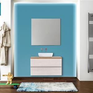 Mobile Bagno A Terra Bianco Lucido Libras Da 120cm Con Lavabo