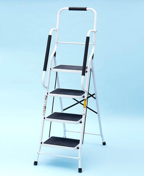 4 Step Big Step Folding Step Stool With Rubber Safety Hand Grip Step Ladders Ladder 4 Step Ladder