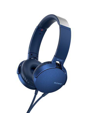 Sony Mdr Xb550ap B On Ear Extra Bass Headphones Blue In 2019 Headphone With Mic Bass Headphones In Ear Headphones