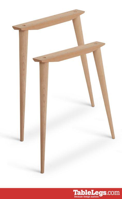 Mccobb Mid Century Modern Table Base Set 4 Legs 2 Angled Cleats Wood Furniture Legs Mid Century Modern Table Modern Table Base
