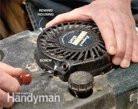 Replace A Broken Starter Rope On Your Lawnmower Quickly And Easily By Following This Simple Step By Step Pr Lawn Mower Repair Lawn Mower Lawn Mower Maintenance