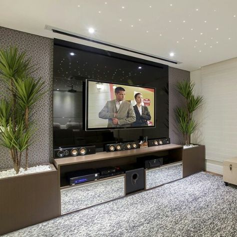 Decoração | Home Theater, Tv Room, Sala De TV | Pinterest | Interior  Designing, Living Rooms And Interiors Part 61