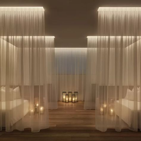 Yabu Pushelberg, The Miami Beach Edition, Spa Relaxation Room luxury boutique hotel Spa Design, Spa Interior Design, Salon Design, Design Ppt, Yoga Studio Design, Design Ideas, Bath Design, Deco Spa, Miami Beach Edition