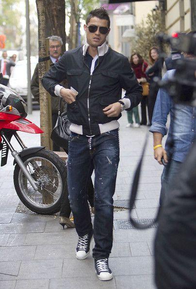 Cristiano Ronaldo wearing Gucci Bomber
