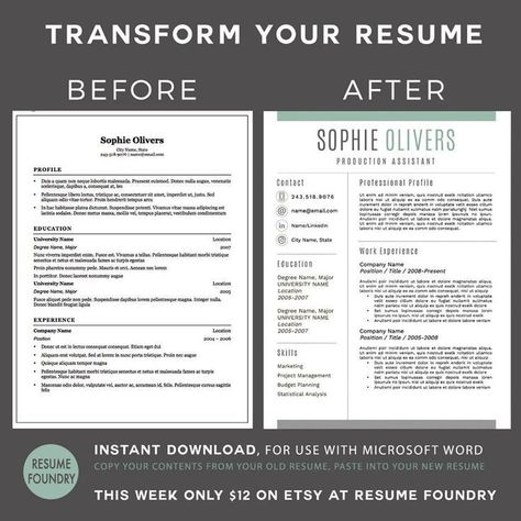 Transform your old resume into a modern version Very simple just - copy and paste resume