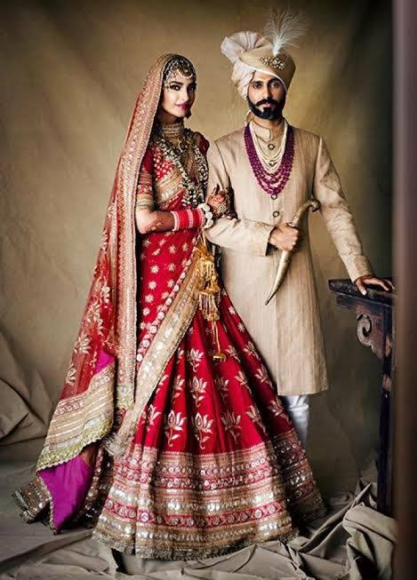 10 Celebrity Weddings Which Made 2018 A Wedding Year Fashion Fun India Indian Wedding Outfits Couple Wedding Dress Indian Wedding Dress