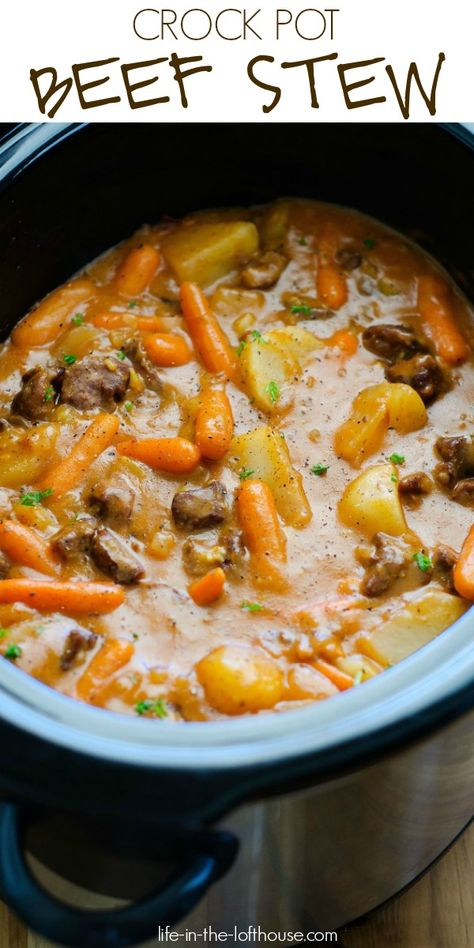 Crock Pot Beef Stew Crock Pot Beef Stew,Mittag/Warme Küche Slow Cooker Beef Stew pot meals dinner recipes for family recipes pot recipes easy cooker recipes Crockpot Dishes, Crock Pot Slow Cooker, Crock Pot Cooking, Slow Cooker Recipes, Crockpot Beef Stew Recipe, Beef Stew Slow Cooker, Beef Stews, Beef Stew Crock Pot, Slow Cooker Stew Recipes