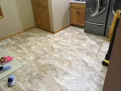Smartcore Ultra 8 Piece 12 In X 24 In Florence Travertine Interlocking Luxury Vinyl Tile Lowes Com Luxury Vinyl Tile Vinyl Tile Luxury Vinyl