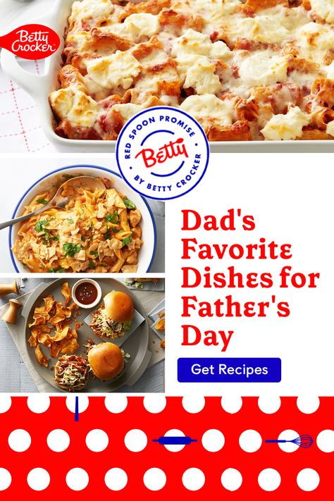 This Father's Day, make one of our Dad's Favorite Dishes for Father's Day. Pin today to make Dad's day extra special.