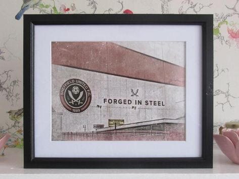 Forged in Steel - Sheffield United Print (colour)