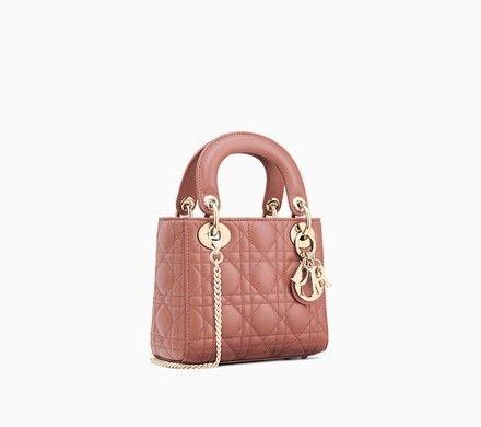 Mini Sac Lady Dior En Agneau Rose Dior