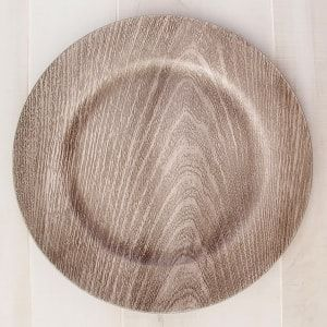 Gray Faux Wood Plastic Charger Plates 13 In Rustic Charger Plates Charger Plates Faux Wood