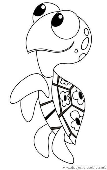 Tortuga Nemo Para Colorear With Images Finding Nemo Coloring